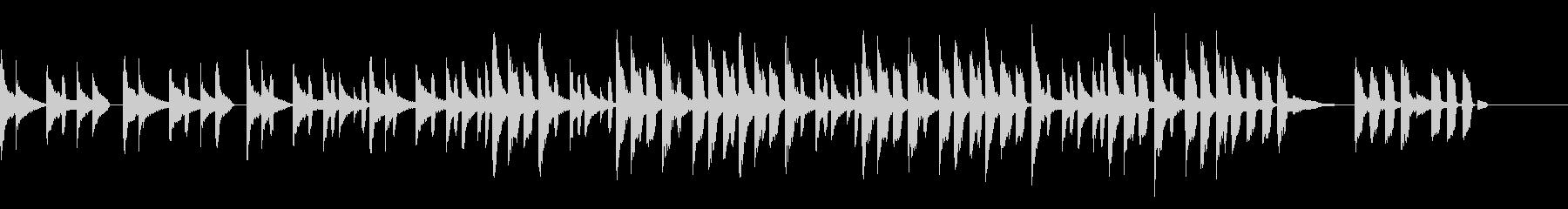 ほのぼのとしたコミカルな曲の未再生の波形