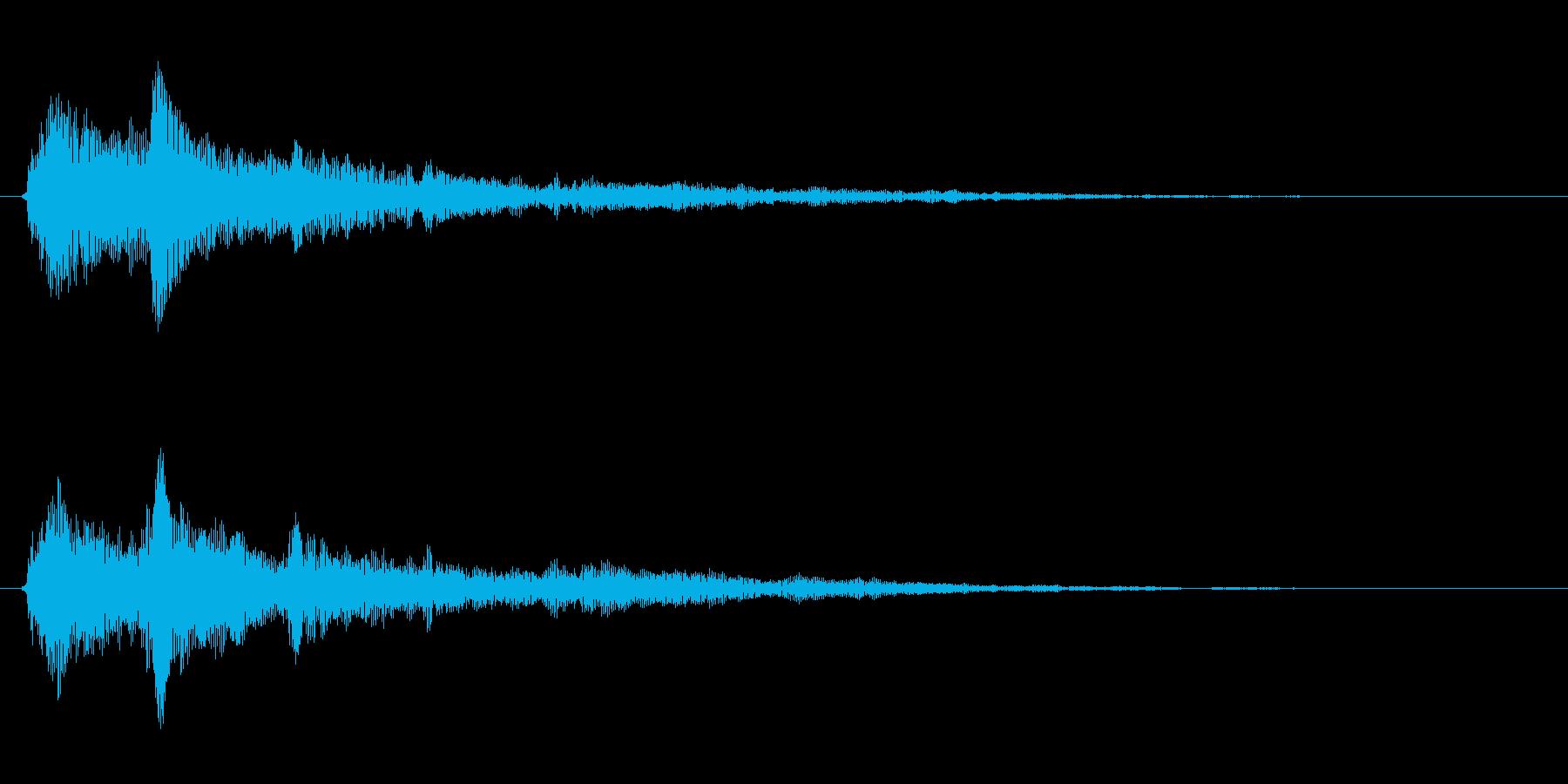 金属系バネ入りのクリック音(1音)の再生済みの波形