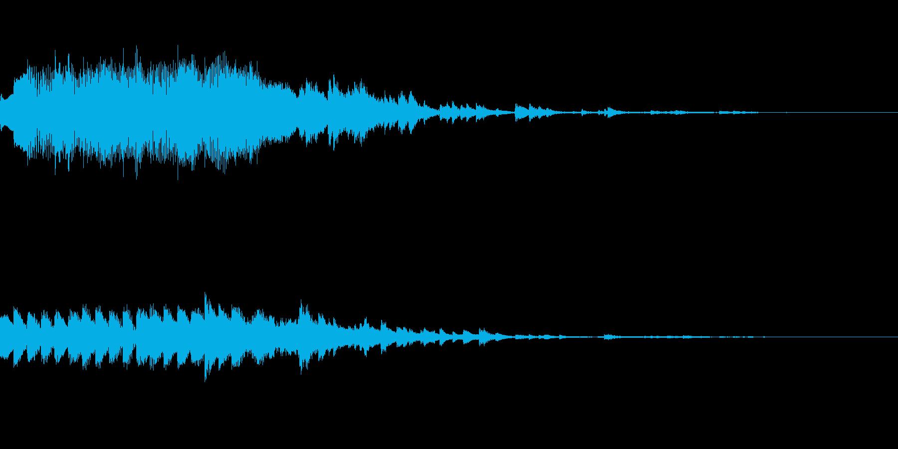 オルゴールのジングル(きらきら系)の再生済みの波形