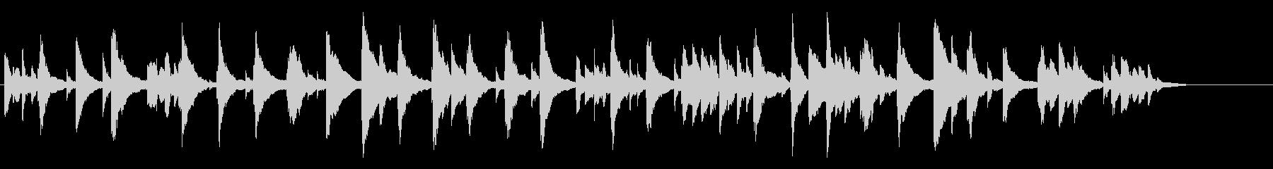シンセによるシンプルなBGM(シンプル)の未再生の波形