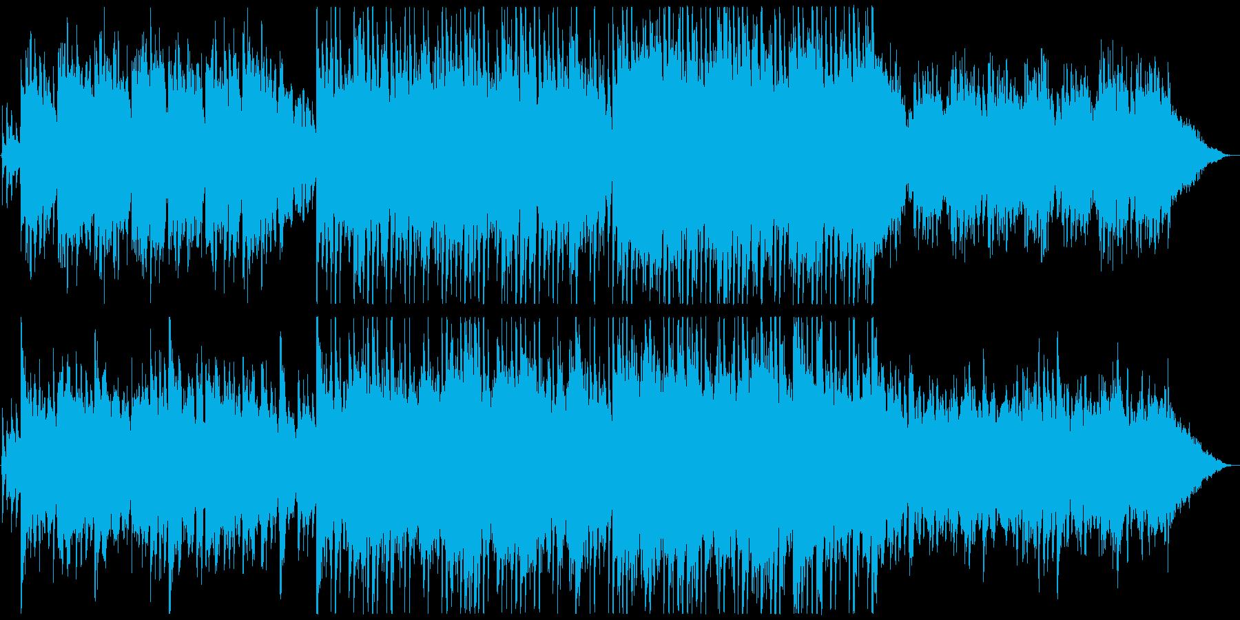 ピアノベースの神秘的な曲の再生済みの波形