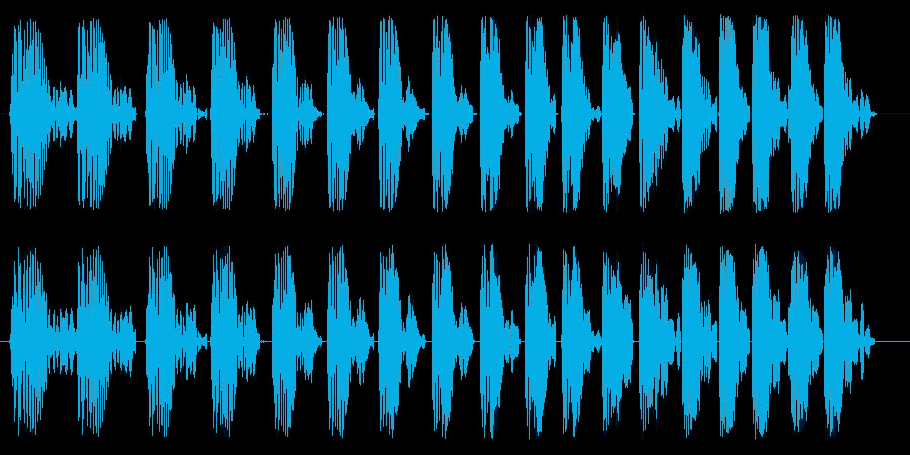 ポワポワポワ(プロペラ)の再生済みの波形