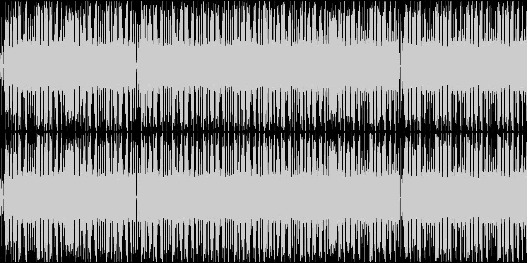 サイバーパンクなテクノBGMの未再生の波形