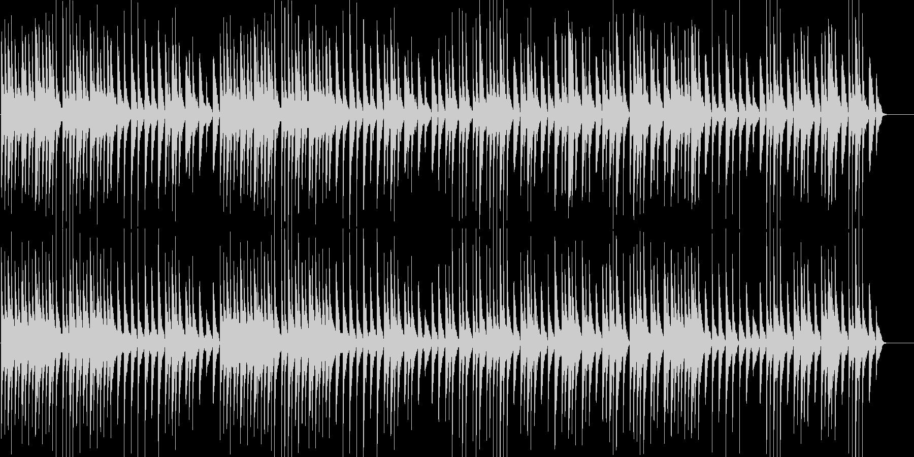 和楽器を使ったほのぼのとしたBGMの未再生の波形