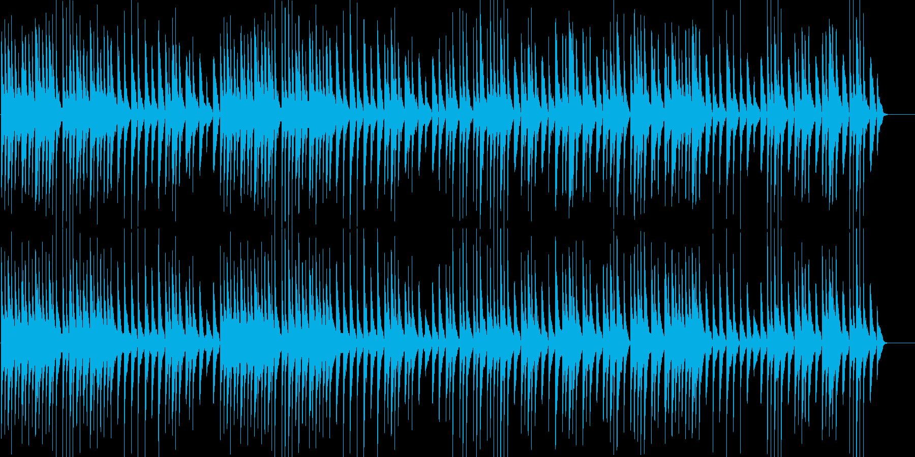 和楽器を使ったほのぼのとしたBGMの再生済みの波形