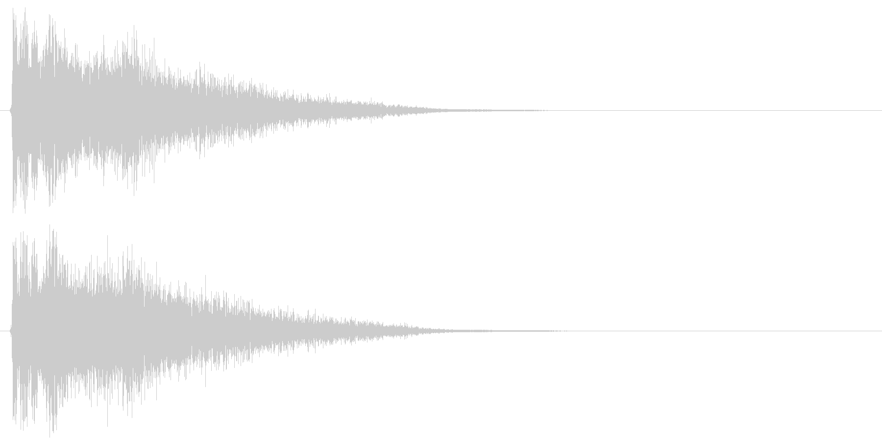 ボウンの未再生の波形