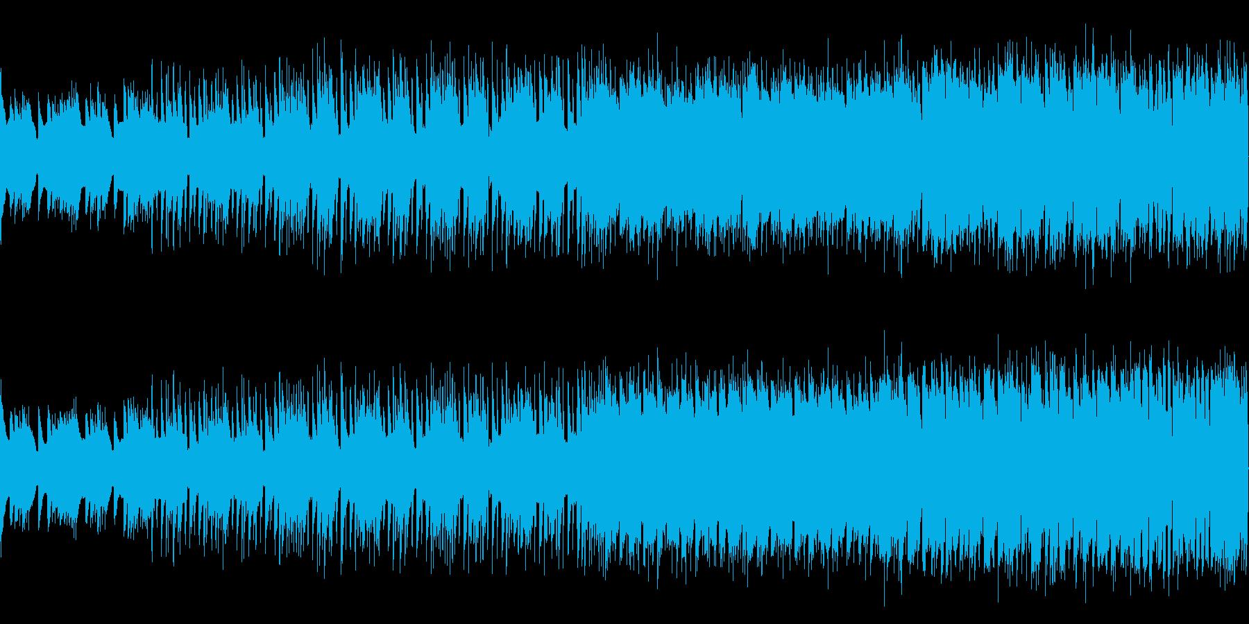 ゲームのチュートリアル的BGM(ループ)の再生済みの波形