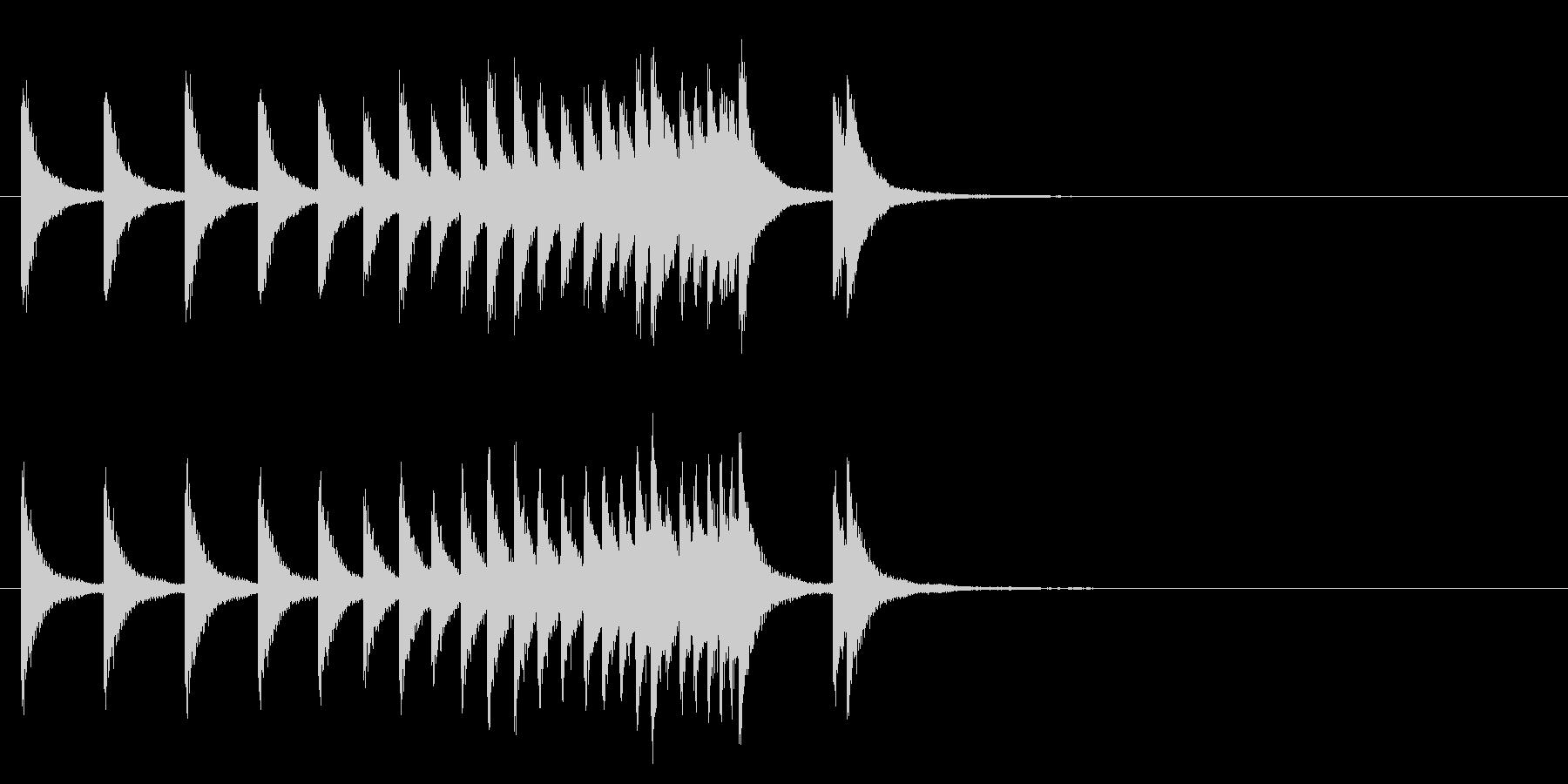 中国銅鑼ロール1の未再生の波形