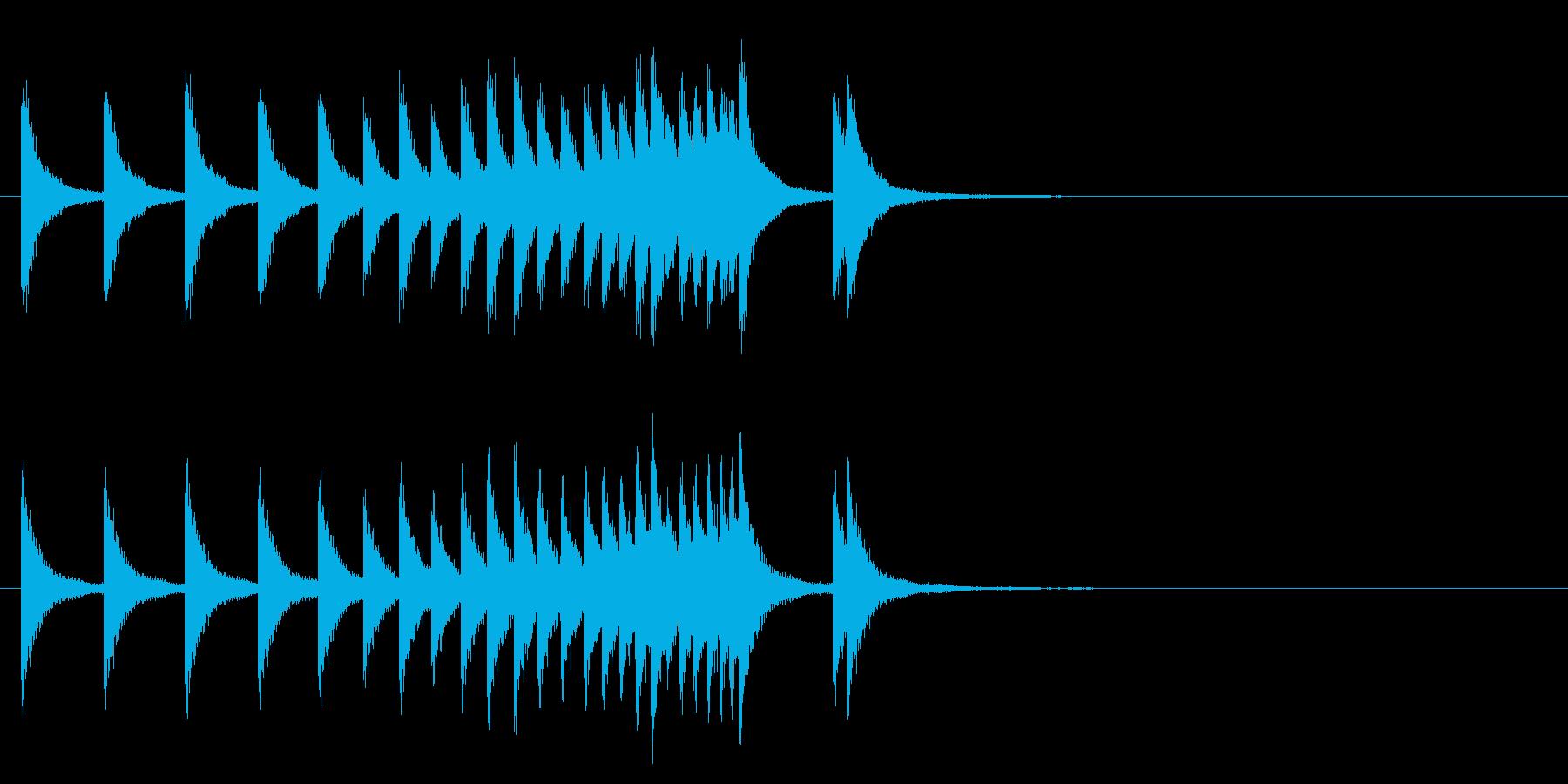 中国銅鑼ロール1の再生済みの波形