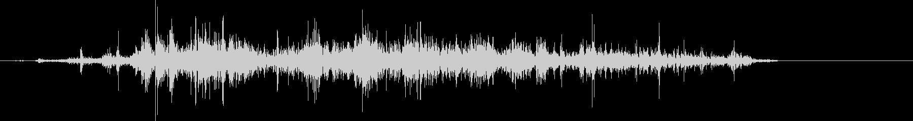 くしゃくしゃ(紙、丸める、削除)の未再生の波形