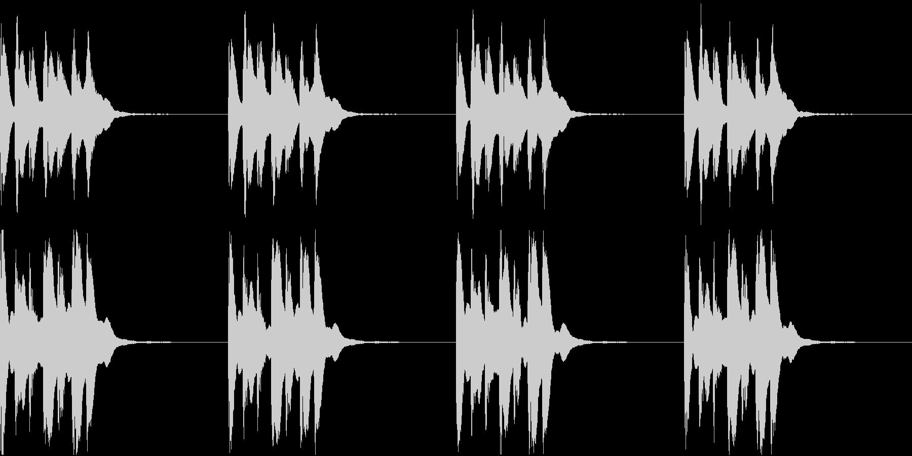 シンプル ベル 着信音 チャイム C-1の未再生の波形
