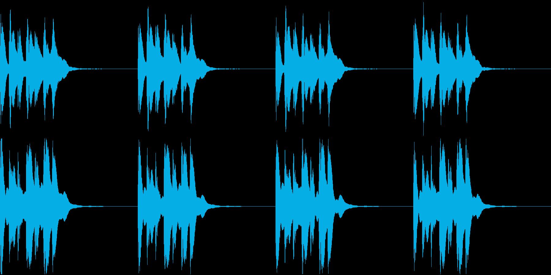 シンプル ベル 着信音 チャイム C-1の再生済みの波形