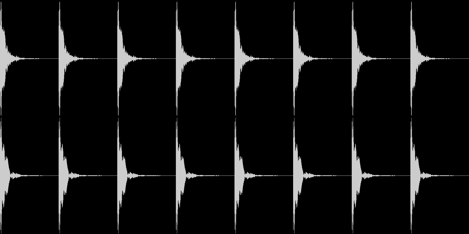 ポクポクポク-01(考え中・ループ可能)の未再生の波形