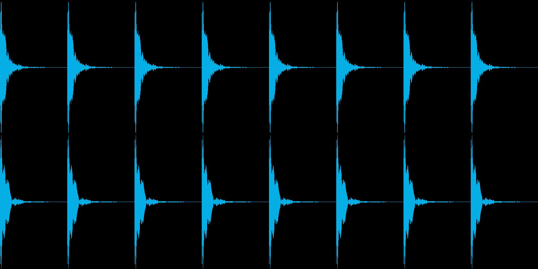 ポクポクポク-01(考え中・ループ可能)の再生済みの波形