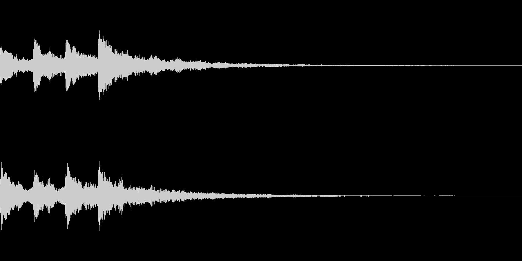 ピンポンパンポーン(シンセベルの音で)の未再生の波形