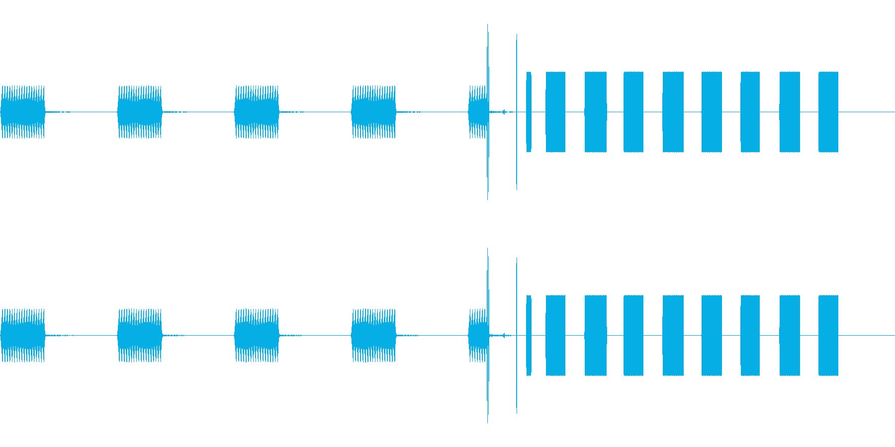 電話 ケイタイ 切られる プルル ブチ!の再生済みの波形