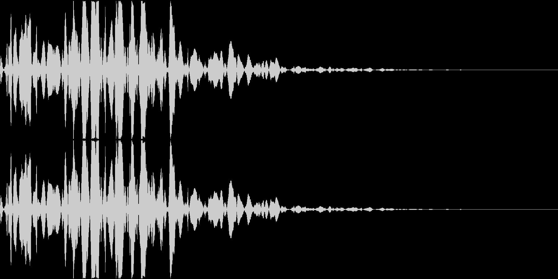 ベチャッ09(泥・液体系のアクション音)の未再生の波形