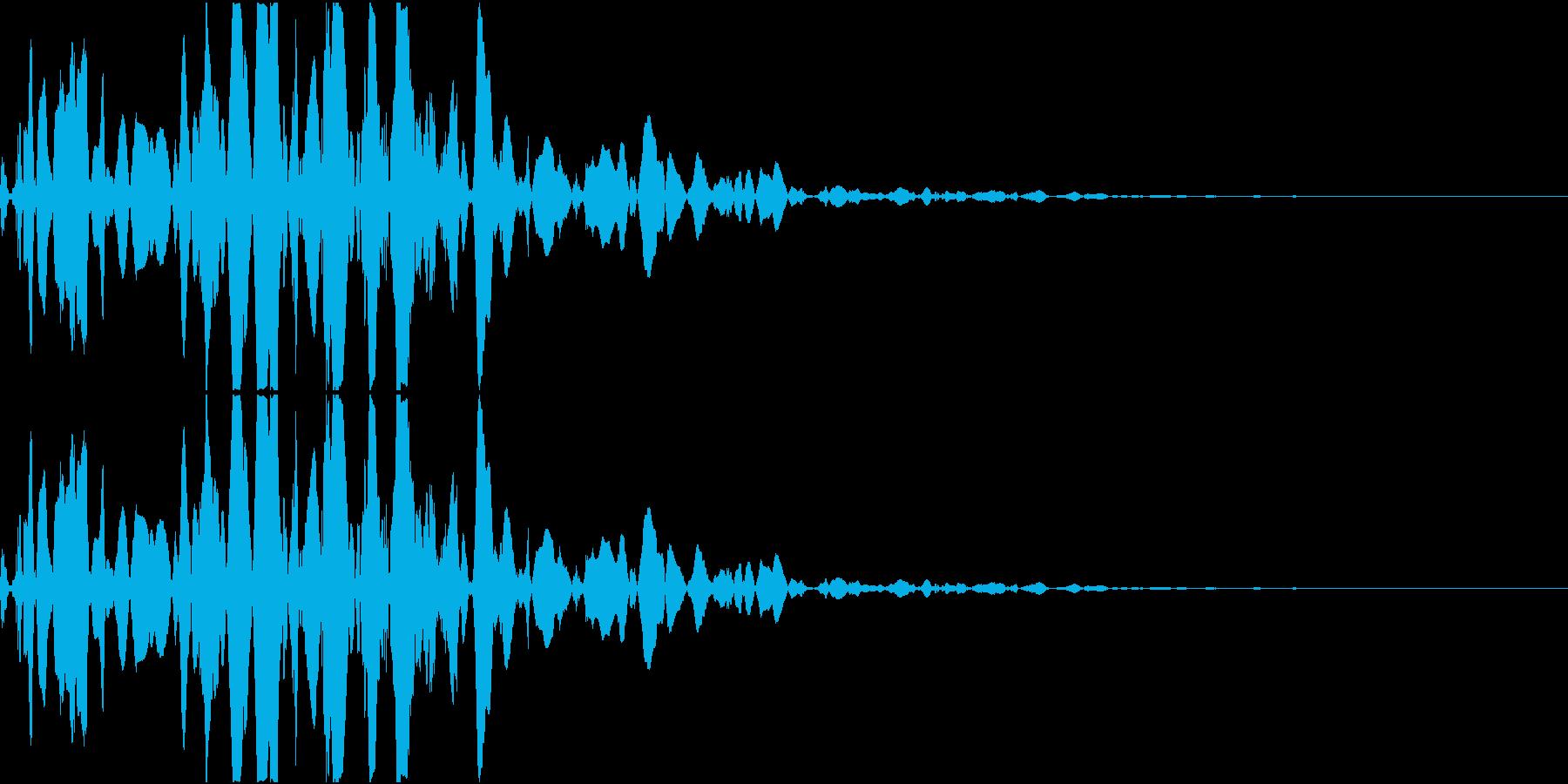 ベチャッ09(泥・液体系のアクション音)の再生済みの波形