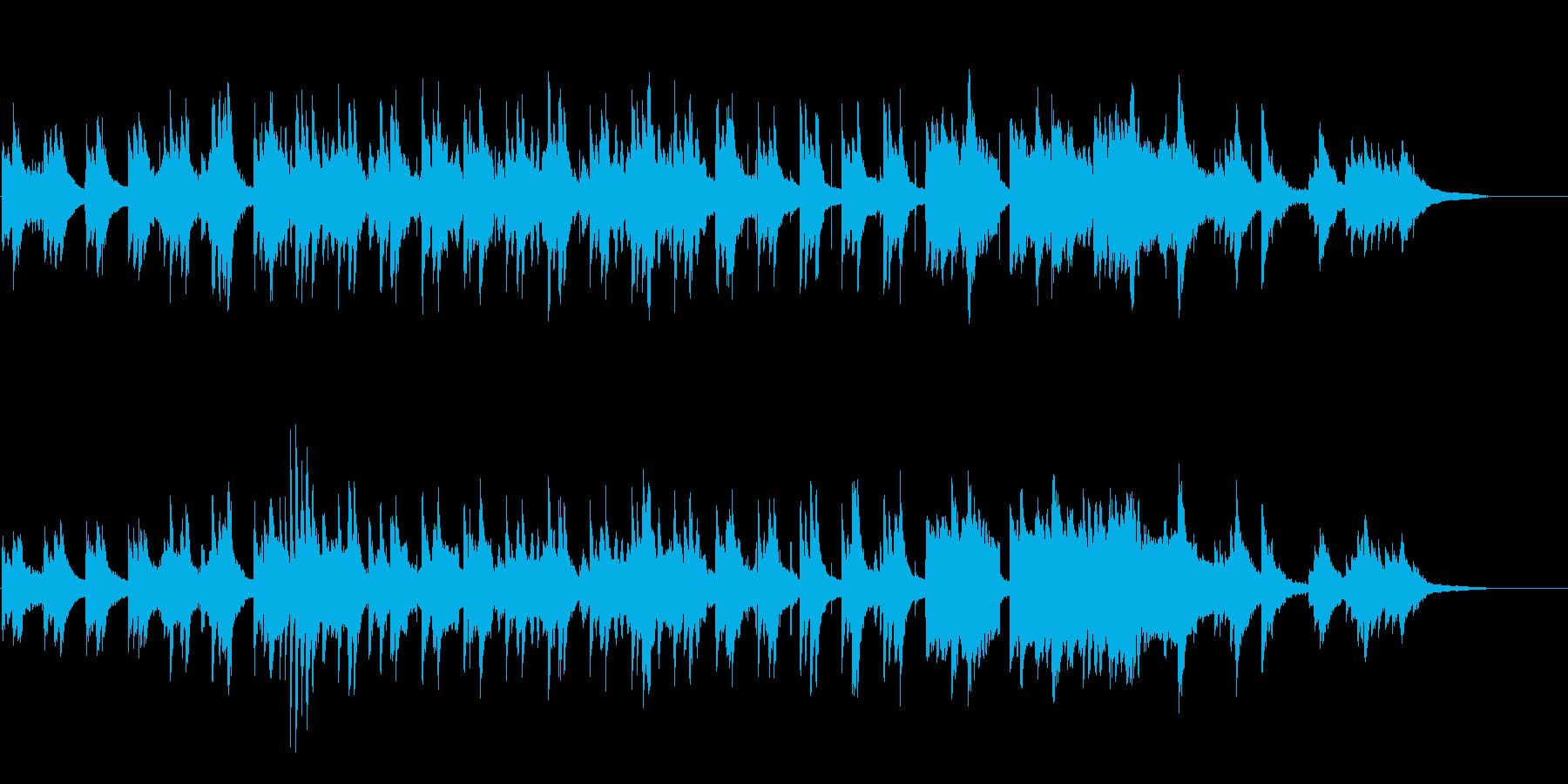 中国楽器とピアノによる穏やかな曲ですの再生済みの波形