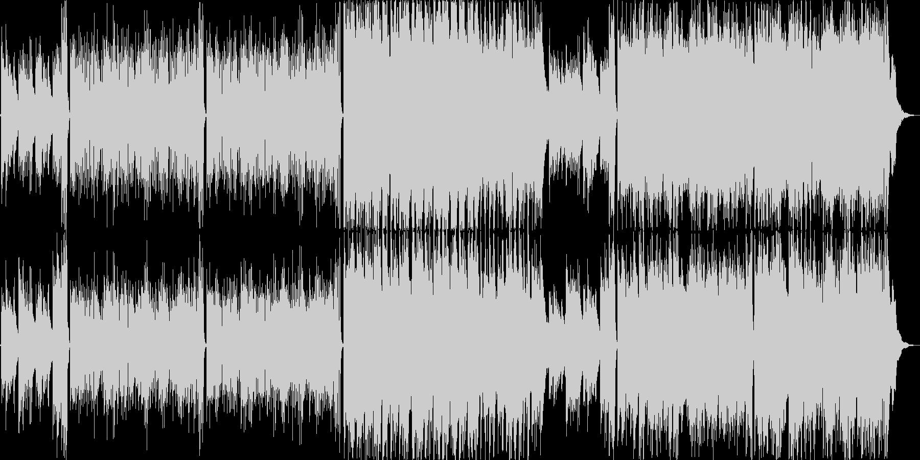 暖かくさわやかなアコギによるインストの未再生の波形
