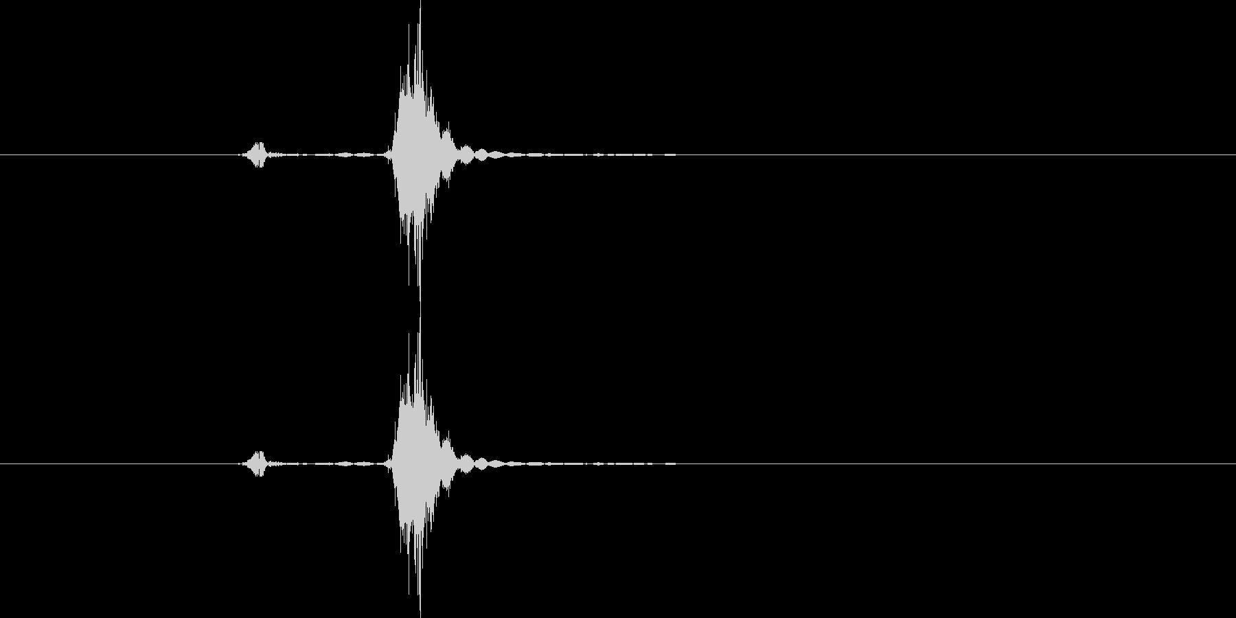 ンチャの未再生の波形