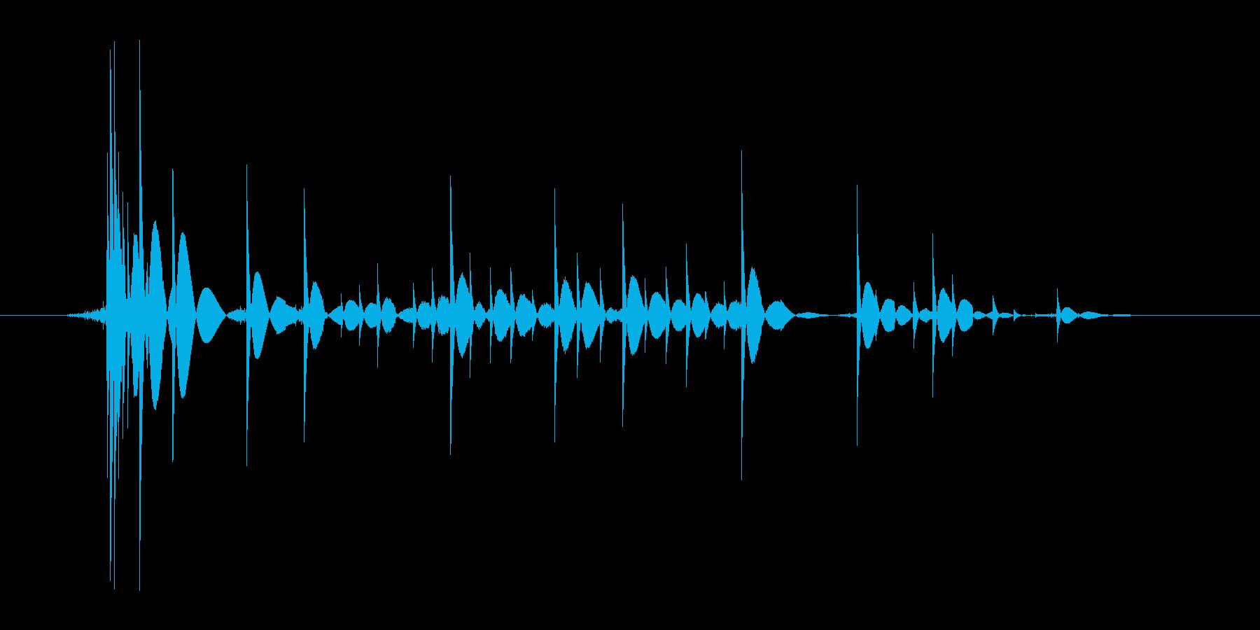 ゲーム(ファミコン風)爆発音_014の再生済みの波形