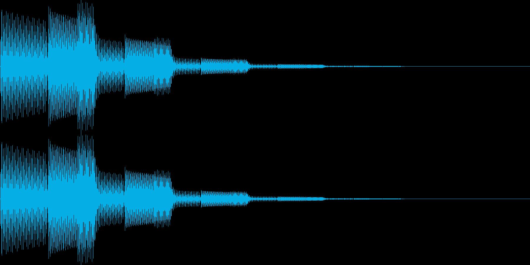 ピロン(決定、表示、カーソル移動)の再生済みの波形