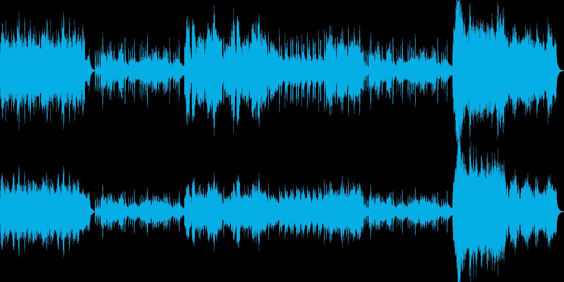 オーケストラ風-恋愛系、感動系の再生済みの波形