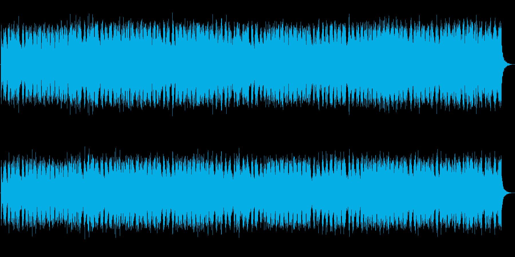 静かで落ち着いたポップスの再生済みの波形