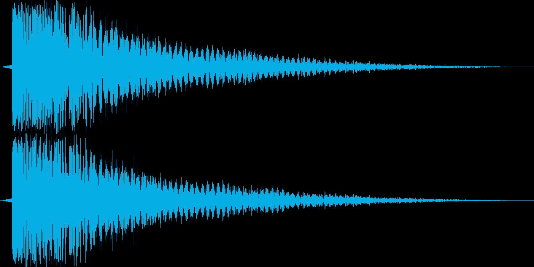ギュイーン(決定音)の再生済みの波形