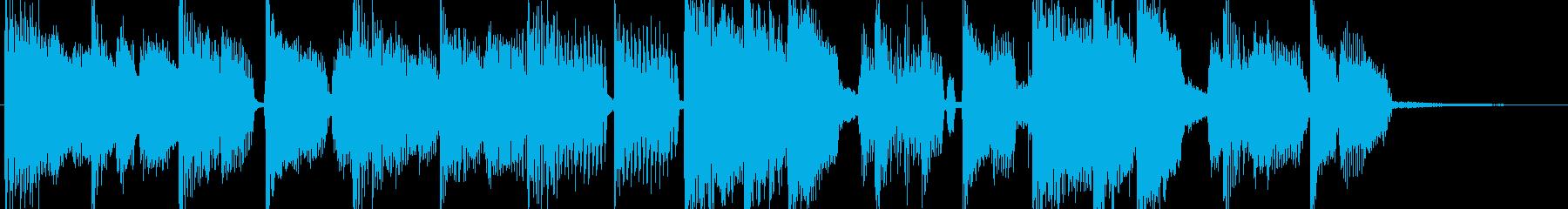ブルース風の軽快なロックジングルの再生済みの波形