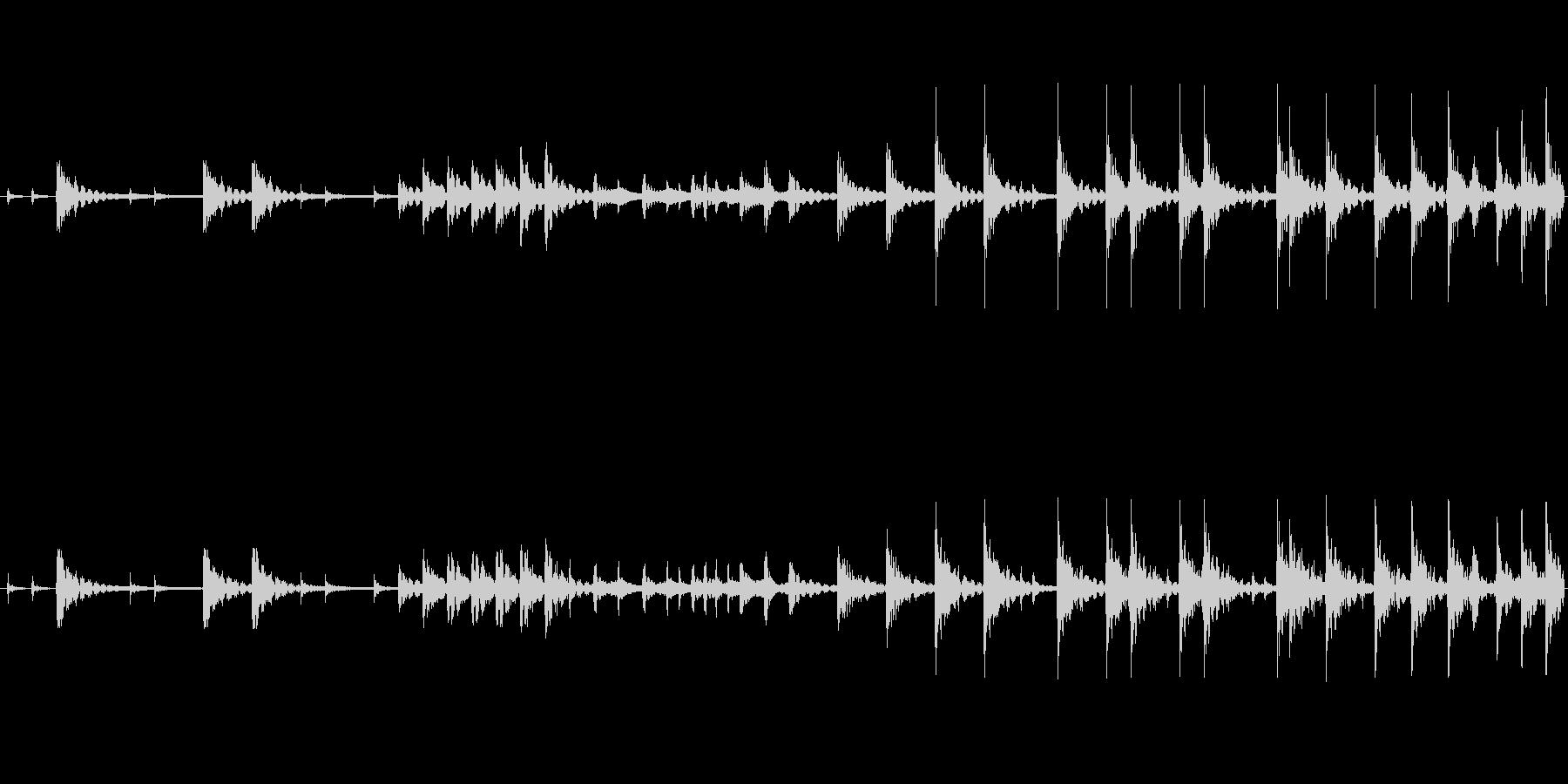和太鼓のみのリバーブなしのループ音源バ…の未再生の波形