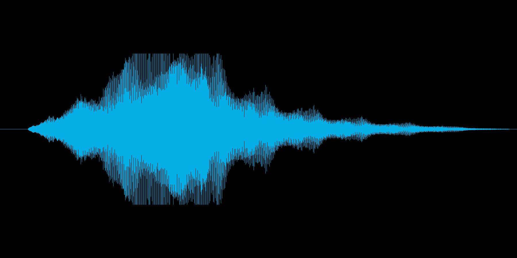タイトルロゴ表示のイメージ音の再生済みの波形