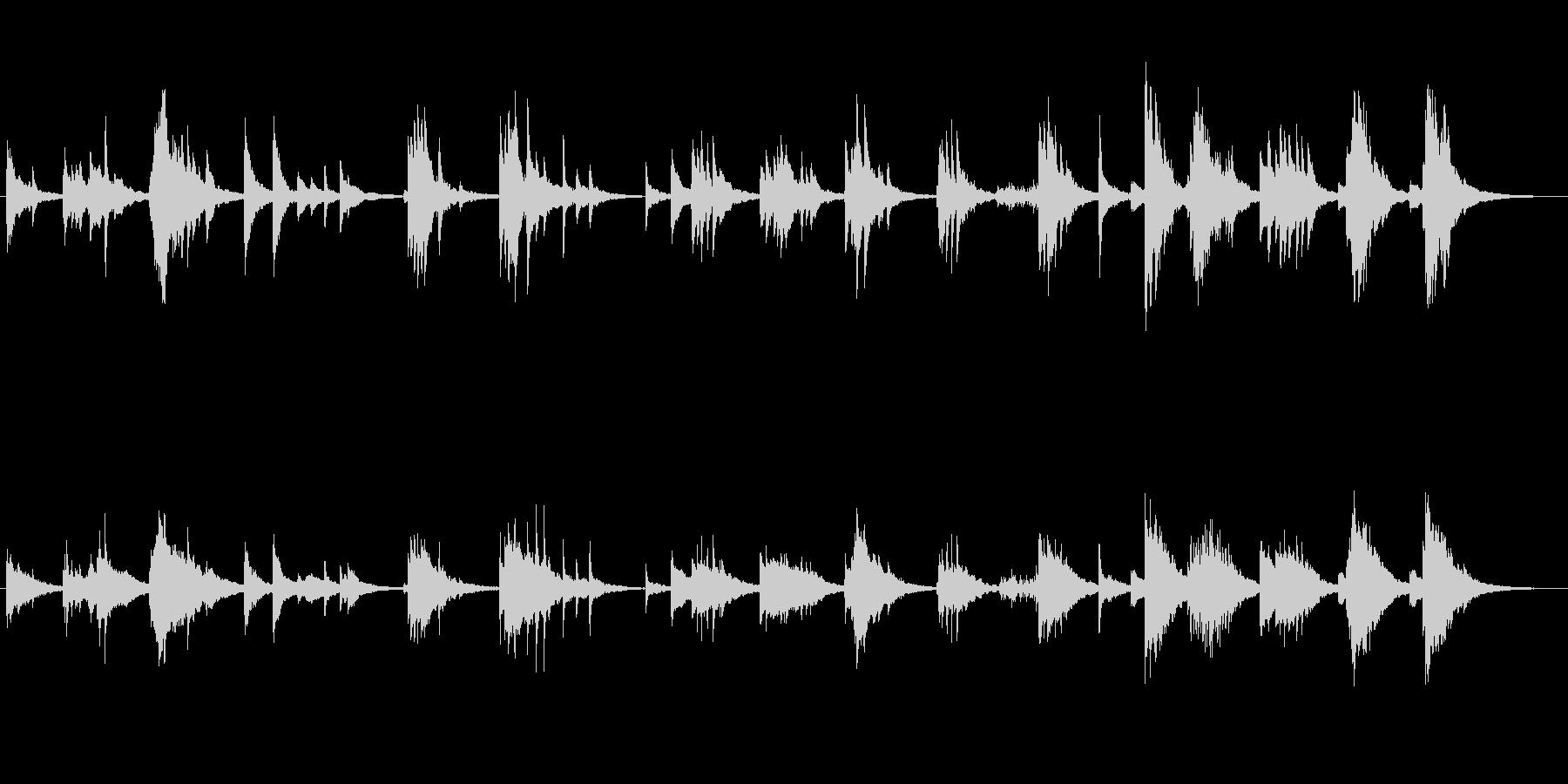 美しいピアノソロの未再生の波形