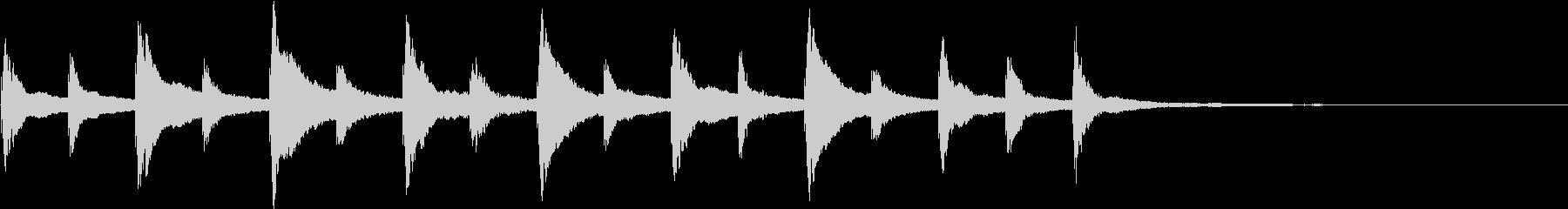 不思議な雰囲気のシンプルなロゴの未再生の波形