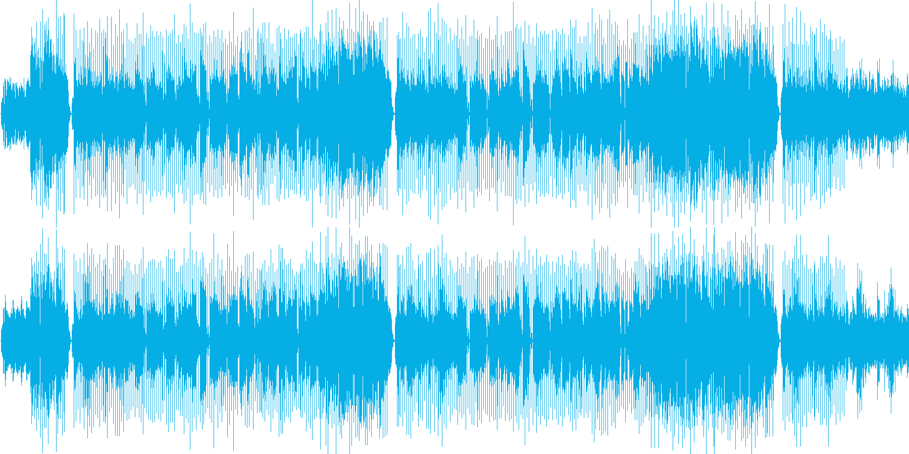 さわやかな曲 ポップス調の再生済みの波形