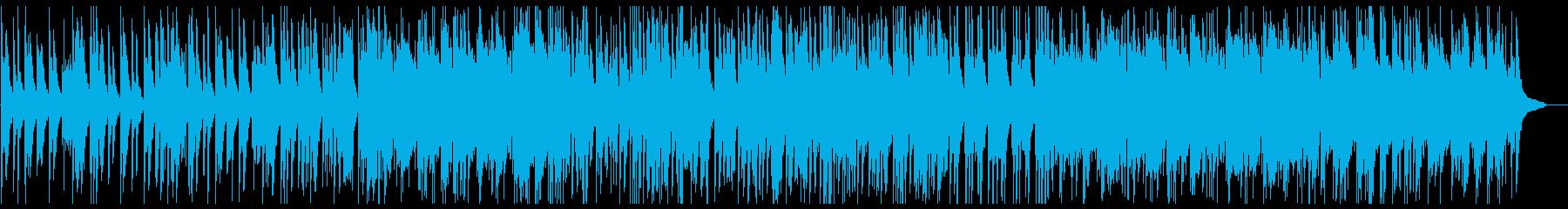 滑らかなスムーズピアノの曲の再生済みの波形