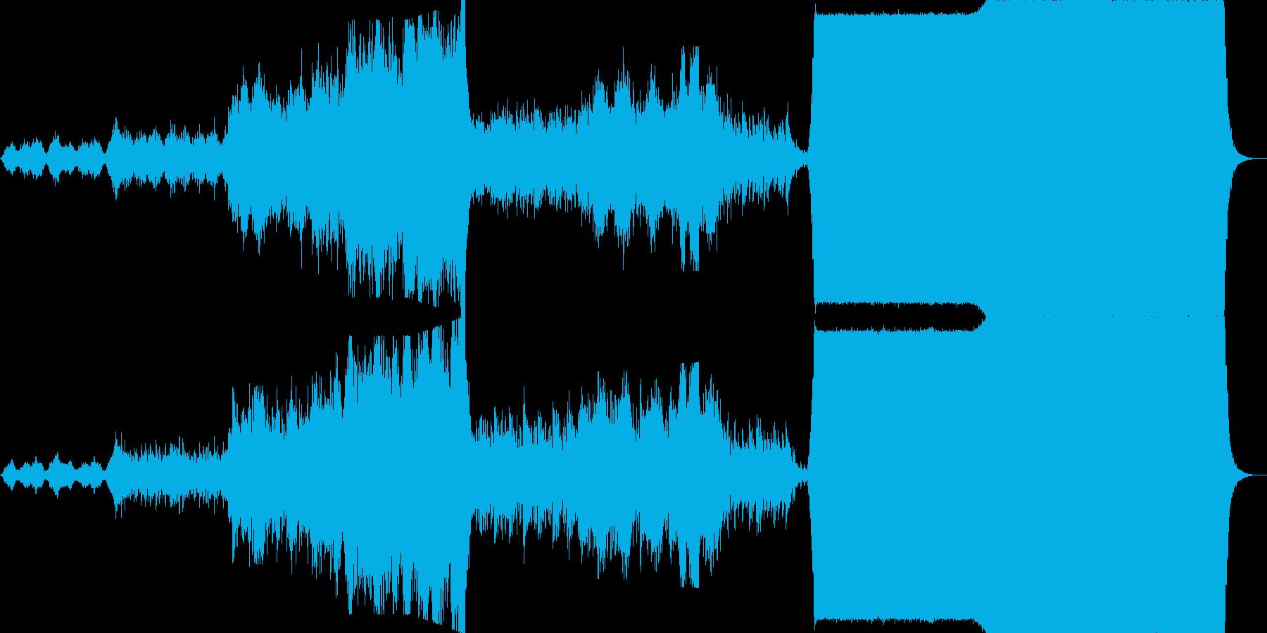 スケール大きめで重い雰囲気の劇版用BGMの再生済みの波形