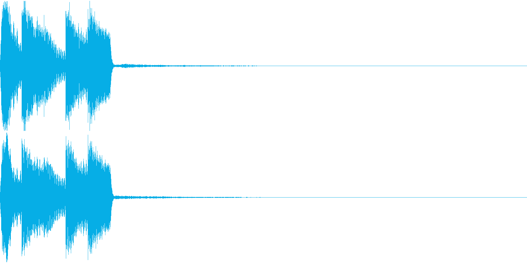 ピコピコ音 クリック 選択 決定 06の再生済みの波形