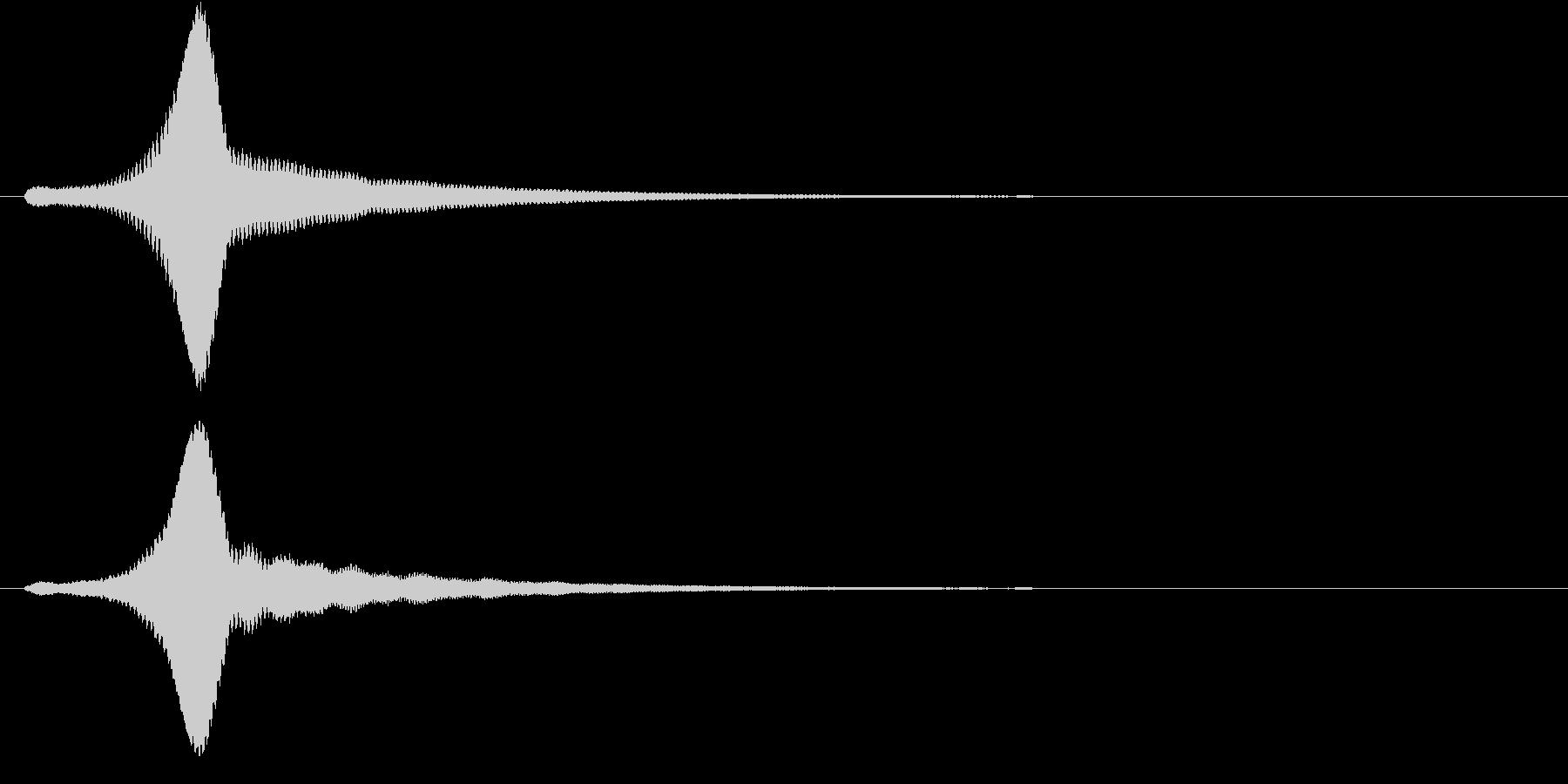 チュオンの未再生の波形