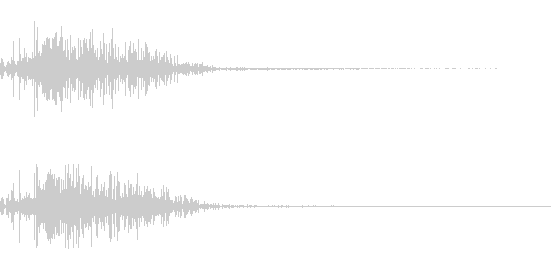 ショットガンの未再生の波形