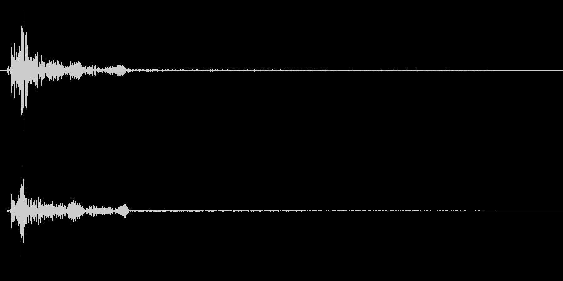 テニスプレー音(短め)の未再生の波形
