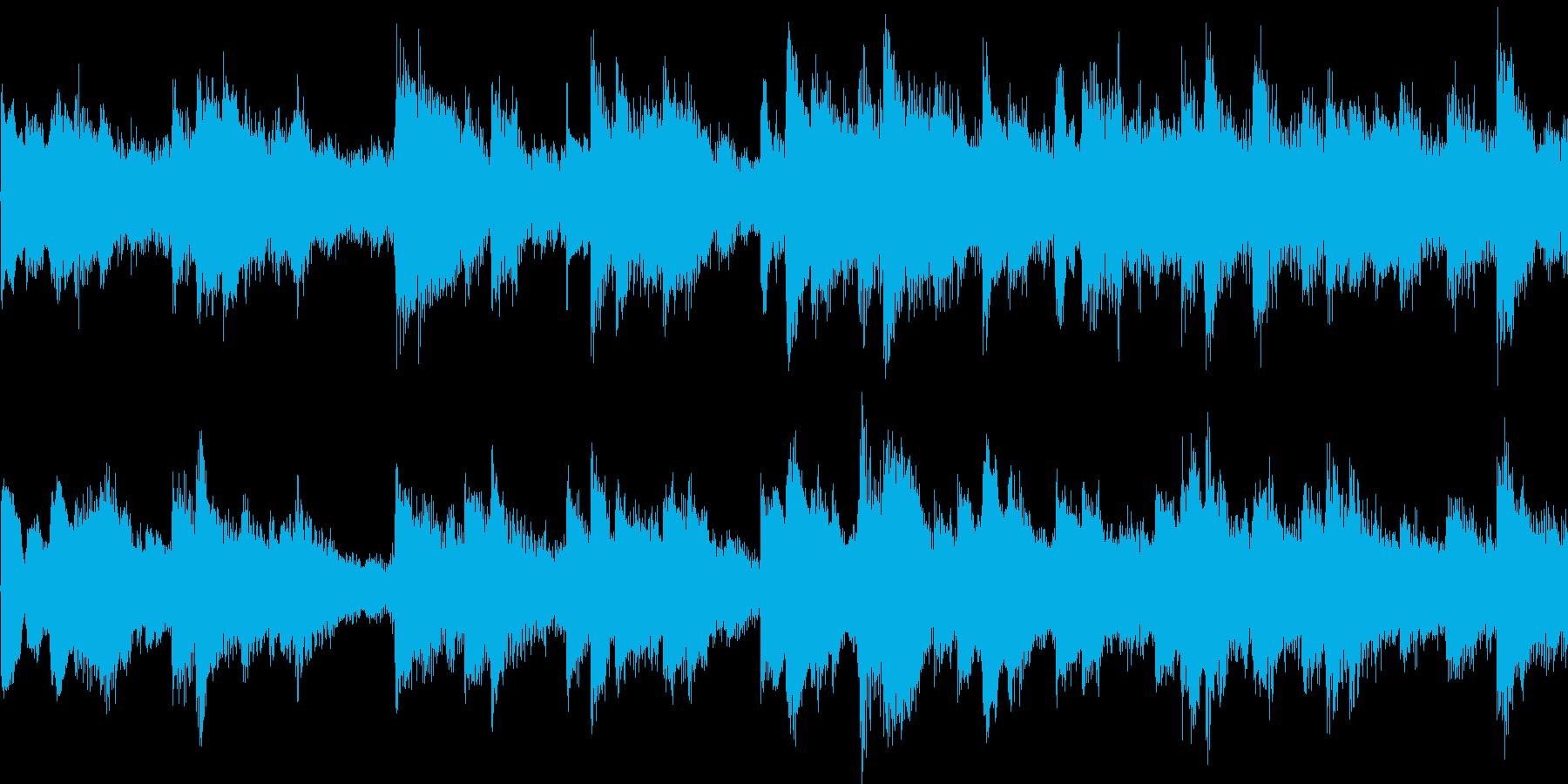 ピアノとストリングスの悲しいBGMループの再生済みの波形