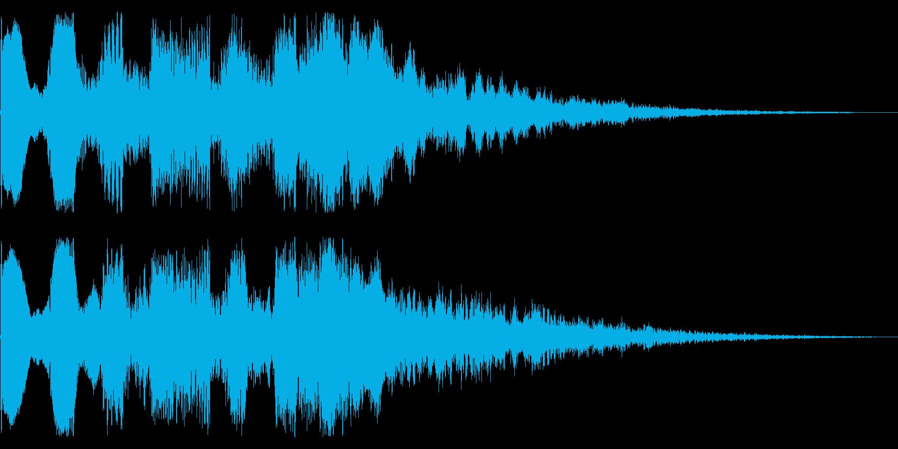 レトロなゲームクリア音 ステージクリアの再生済みの波形