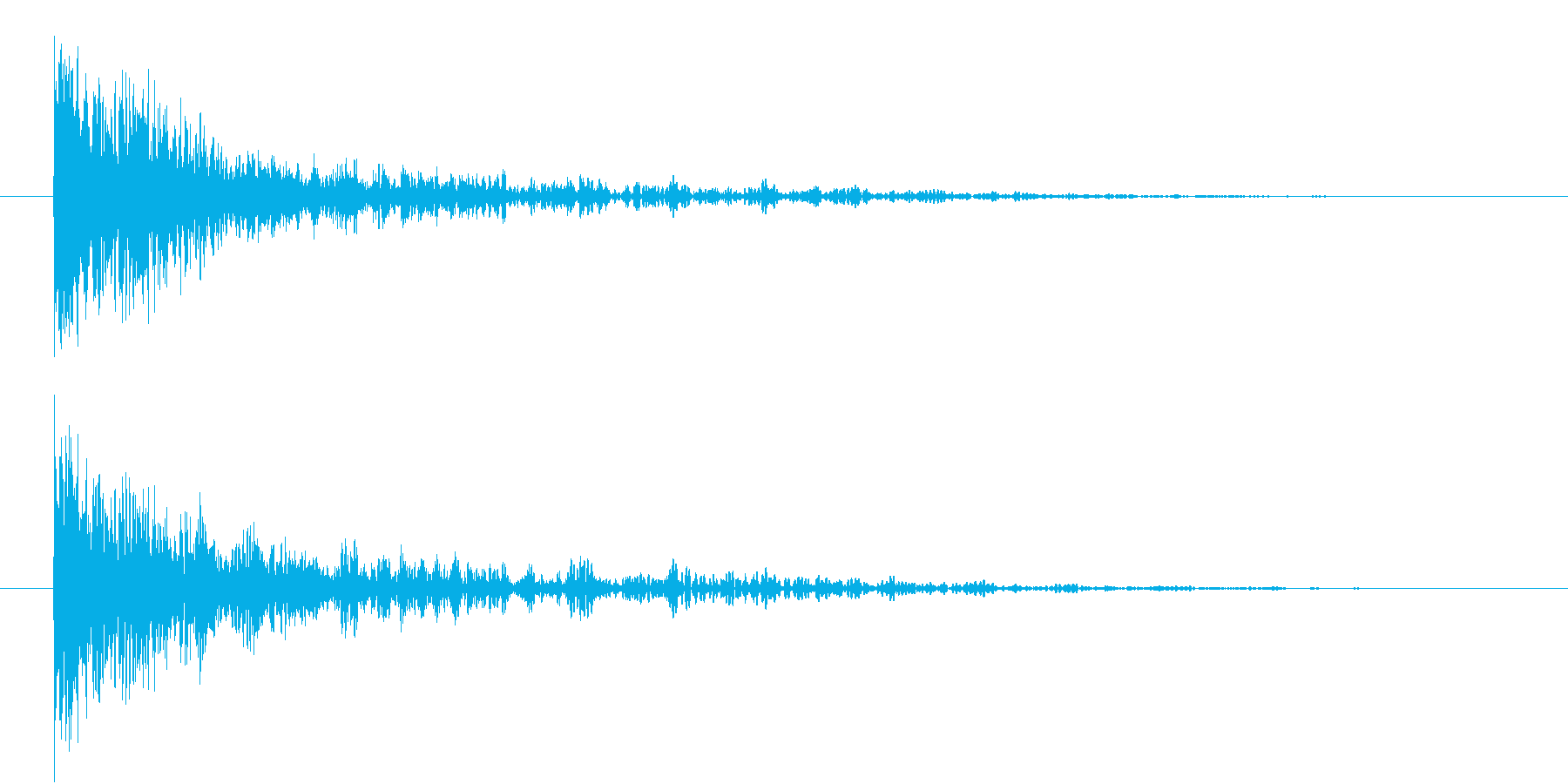 恐怖音3の再生済みの波形