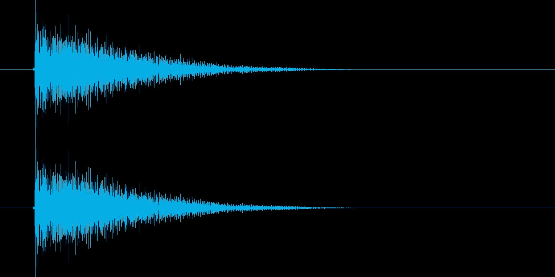 ダダーン!(迫力のある出題音)の再生済みの波形