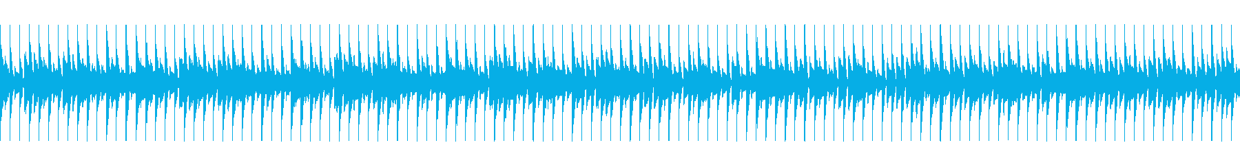 ショッピングの高揚感を煽る曲の再生済みの波形