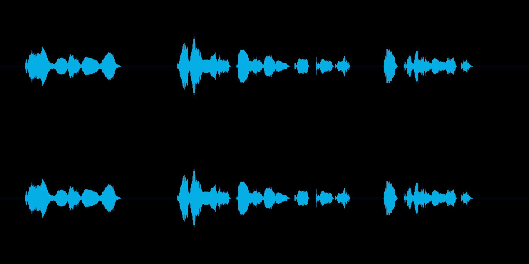 「この放送は…」の再生済みの波形