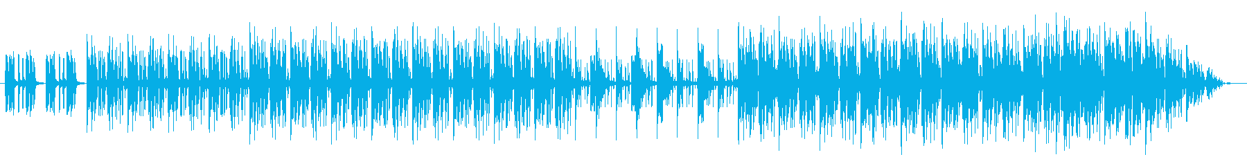 2stepのリズムのクラブミュージック風の再生済みの波形