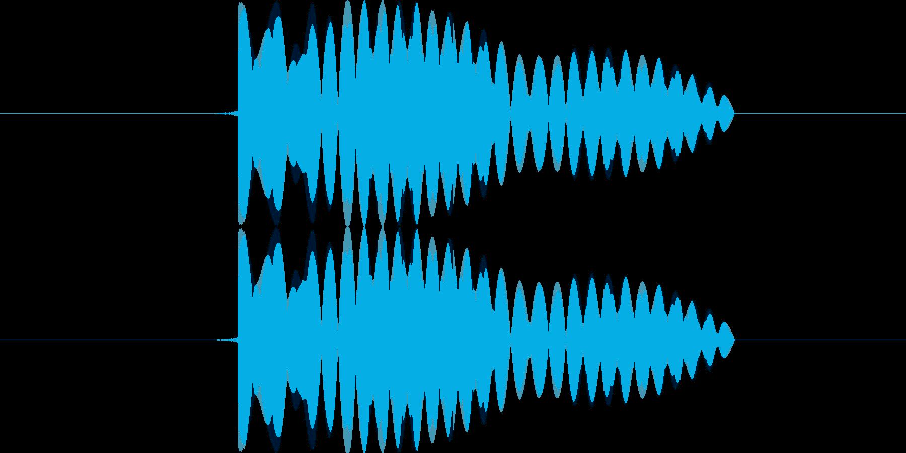 アプリ等で選択や決定をした時の音の再生済みの波形
